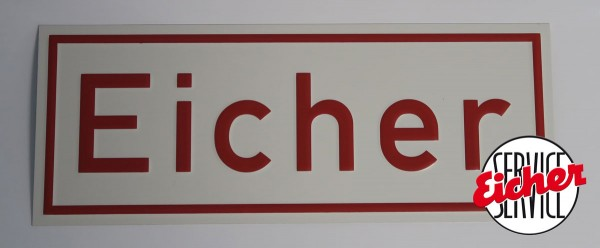 Alu Eicherschild hi/re. am Kotflügel