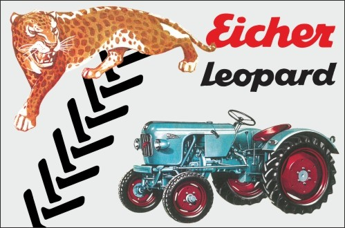 Aluschild Raubtierreihe Leopard