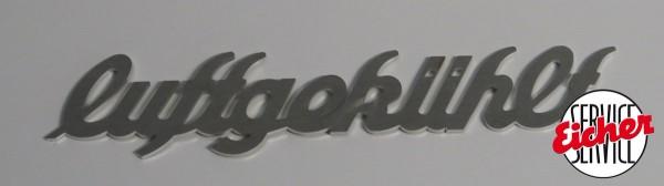 """Alublech Schriftzug """"luftgekühlt"""""""