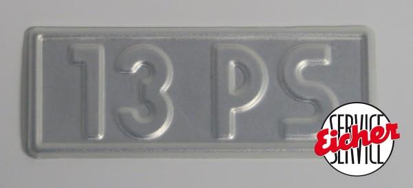 Alu PS-Schild 7x2,5cm