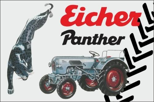 Aluschild Raubtierreihe Panther
