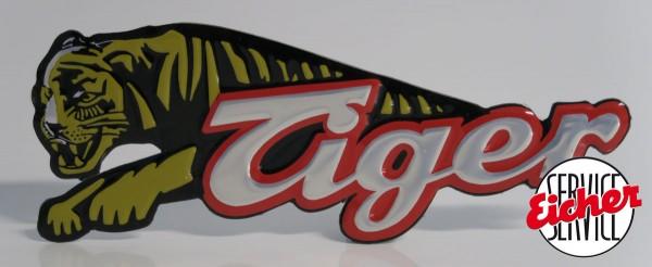 Raubtier Tiger-Emblem