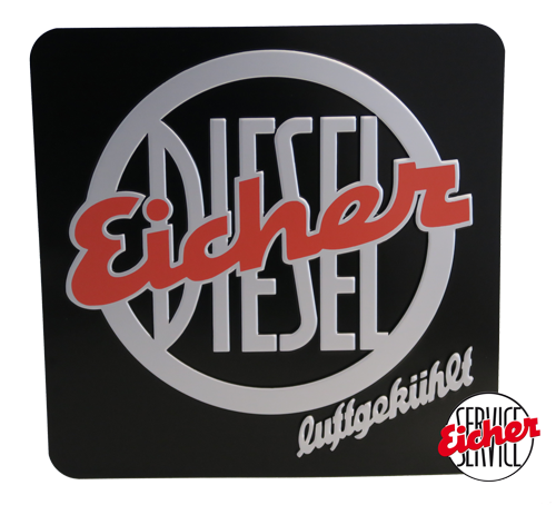 Eicher Stirnschild 33,5 cm x 33,5 cm