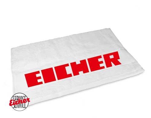 Handtuch weiß mit Eicher 3000er Schriftzug