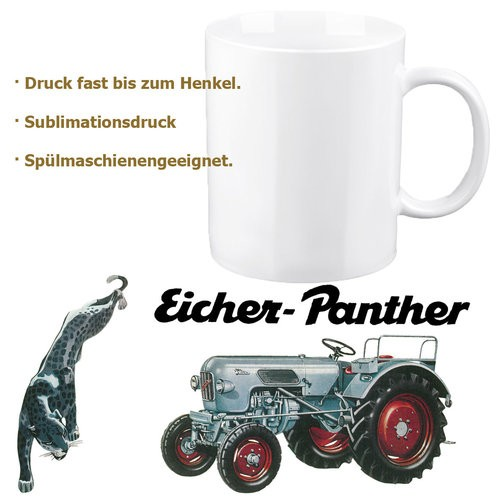 """Eicher-Tasse/Kaffeehaferl """"Panther"""""""
