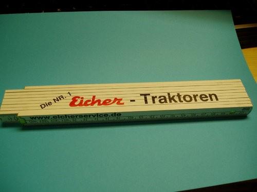 Meterstab 200 cm mit Logo Eicher Traktoren die Nr. 1