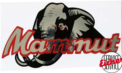 Aufkleber Mammut