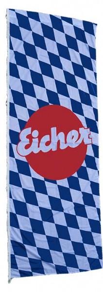Hissfahne weiß-blau mit Eicher Logo