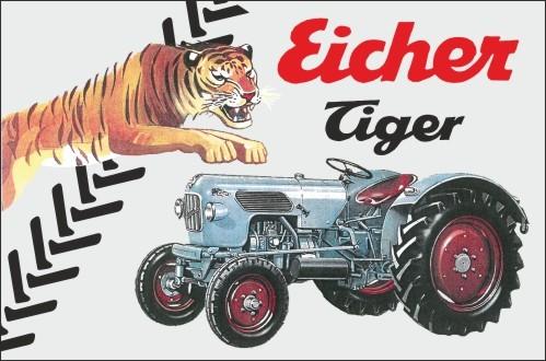 Aluschild Raubtierreihe Tiger