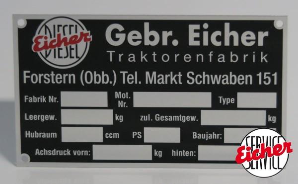 """Blanco Typenschild """"Markt Schwaben"""""""