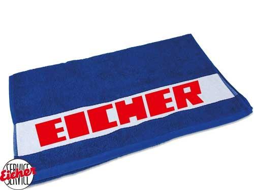 Handtuch blau mit Eicher 3000er Schriftzug