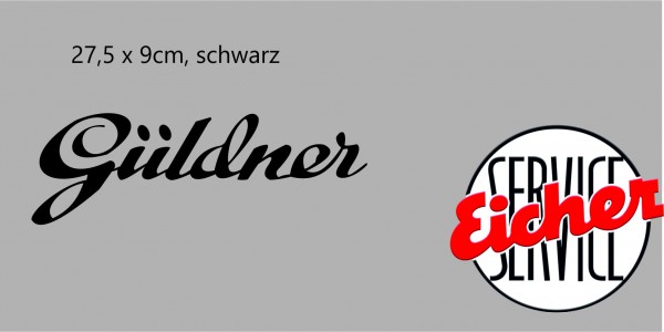 Aufkleber Güldner-Schriftzug schwarz