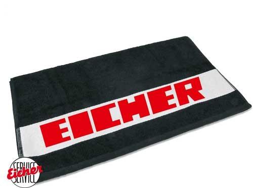 Handtuch schwarz mit Eicher 3000er Schriftzug