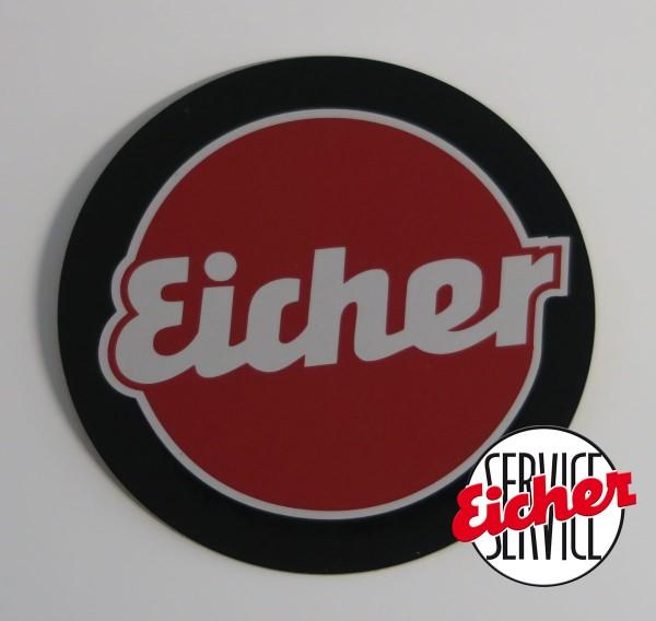 Alu-Schild Eicher Ø 6,5 cm