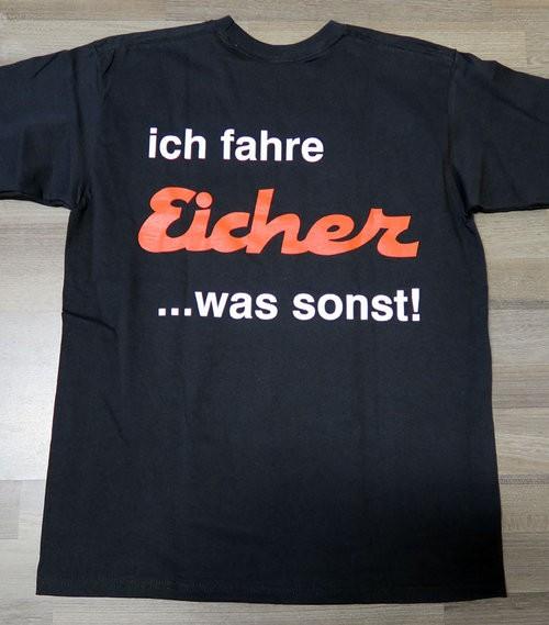 """T-Shirt """"Ich fahre Eicher"""" schwarz"""