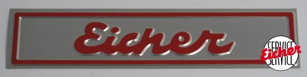 Alu Eicherschild 23 cm x 5 cm