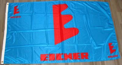 Fahne/Flagge Eicher blau mit E