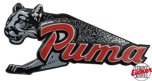Raubtier Puma-Emblem orginal - Nachbau