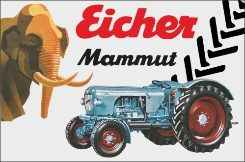 Aluschild Raubtierreihe Mammut